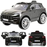 Rollplay Porsche Macan Turbo 12V viele LED Effekte Soft Start Kinderauto Kinderfahrzeug Kinder Elektroauto Grey