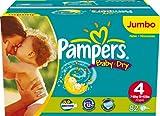 Pampers Baby Dry, Windeln  Gr.4 Maxi 7-18kg Jumbopack, 2er Pack (2 x 82 Stück)