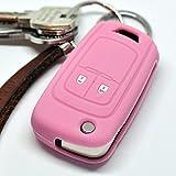 Soft Case Schutz Hülle Auto Schlüssel Opel Astra J Corsa D Adam Meriva Insignia ab 2008 Klappschlüssel Chevrolet Cruze Trax Matiz Aveo Spark/Farbe Pink