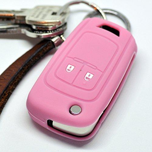 Soft Case Schutz Hülle Auto Schlüssel Klappschlüssel für Opel Chevrolet ab 2008 / Farbe Pink