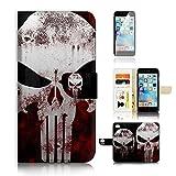 (pour iPhone 6/iPhone 6S) Portefeuille Flip Coque protecteur d'écran et Bundle. A20415Bio Tête de mort horreur