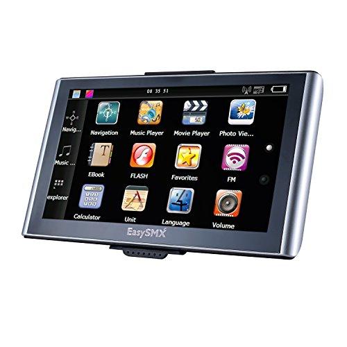 EasySMX-739-GPS-Navegador-7-Pulgadas-TFT-LCD-Pantalla-Tctil-Actualizacin-Gratis-de-Mapa-de-Europa-Multi-idioma-GPS-Compatible-con-Window-XP