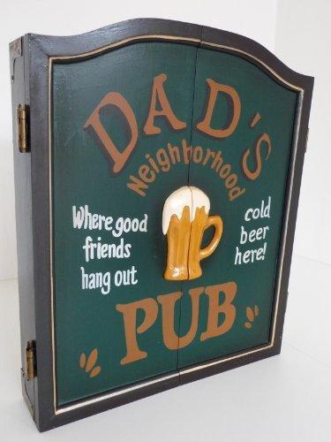 point home Dartschrank Dartboard Dartscheibe \'Dad\'s Pub\' im Retrolook