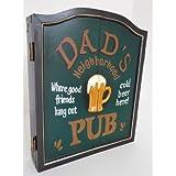 point-home Armoire à Jeu de fléchettes, Jeu de fléchettes, Cible pour Jeu de fléchettes, Style rétro Dad's Pub