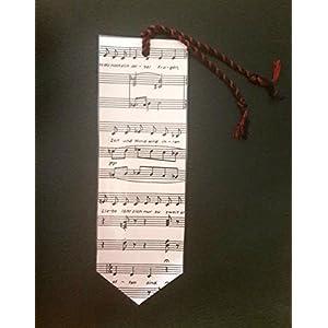 Lesezeichen aus alten Notenblättern Geschenk für Leseratten & Musikliebhaber