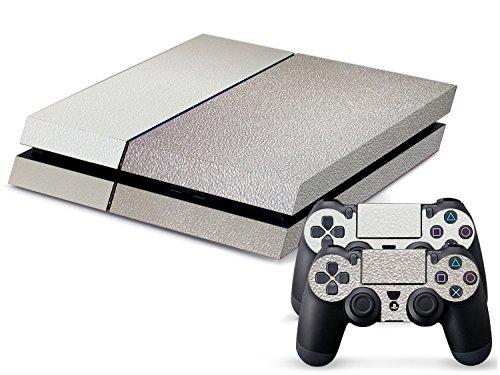 playstation-4-kit-de-skins-fundas-adhesivas-para-consola-2-mandos-de-control-textura-chrome-plata
