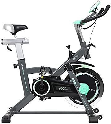 Bicicleta de Spinning Extreme20 de Cecotec. Uso profesional. Pulsómetro. pantalla LCD, Resistencia variable. Estabilizadores. SilenceFit. Completamente regulable