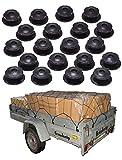 all-around24 Anhängernetz mit befestigung Rundknöpfen 20 St.inkl Schrauben KFZ Auto Netz (120 x 80 cm bis 180 x 130 cm)