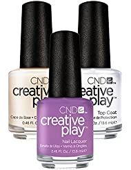 CND Creative Play a Lilacy Story Nr. 443 13,5 ml mit Creative Play Base Coat 13,5 ml und Top Coat 13,5 ml, 1er Pack (1 x 0.041 l)