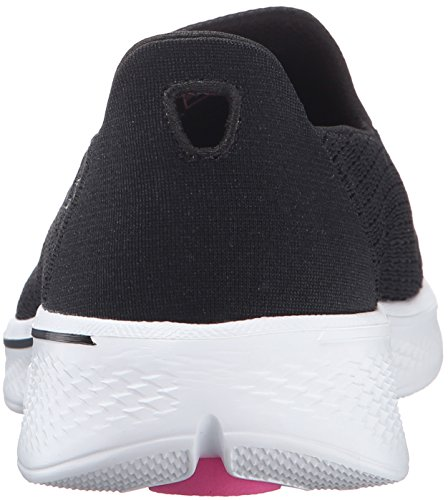 Skechers Go Walk 4 Pursuit, Baskets Basses Femme Black/White
