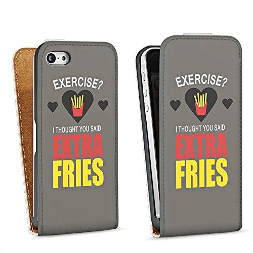 Apple iPhone 4 Housse Étui Silicone Coque Protection Fitness Pommes Déclaration Sac Downflip blanc