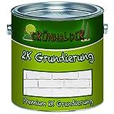 Grünwalder PREMIUM 2-K Grundierung inkl. Härter als SET Weiß, Grau, Schwarz Wunschfarbton möglich! (5 kg, Schwarz RAL 9005)