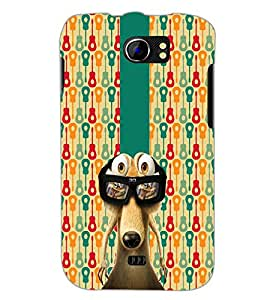 PrintDhaba Scrat D-5630 Back Case Cover for MICROMAX A110 CANVAS 2 (Multi-Coloured)