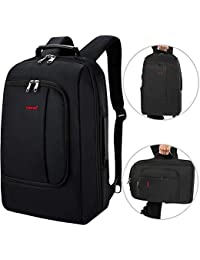 TIGERNU Slim Business Backpack With USB Charging Port Convertible Carry On Travel Bag With Luggage Strap Fits...