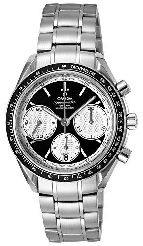 Omega Speedmaster Racing / orologio uomo / quadrante nero / cassa e bracciale acciaio