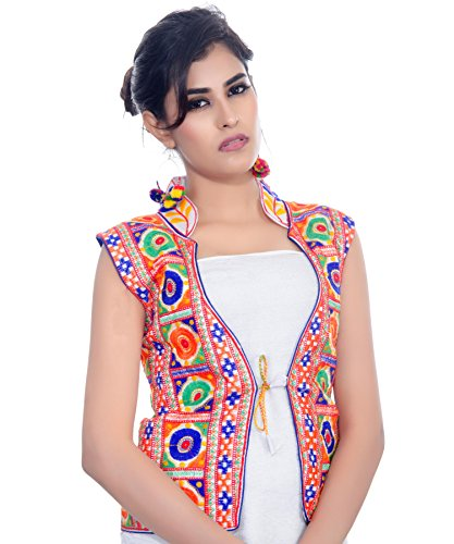 Banjara Women's Jacket (MJK-BHK02_White_Free)