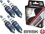 Brisk Iridium Premium+ Plus P4 1622 Lot de 4 bougies d'allumage