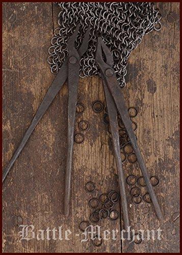 1 Paar handgeschmiedete Sarwürkerzangen Schmiedezange aus Stahl für Kettenhemden LARP Wikinger Mittelalter