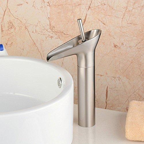 Hiendure Single Handle centerset bagno rubinetto cascata lavello, lavabo Bacino