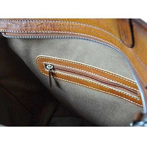 Pratesi Monterchi borsa in vera pelle - B461 Bruce (Blu Elettrico) Ciliegia