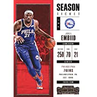 2017–18Dépasse Panini Season Ticket # 44Joel Embiid Philadelphia 76ers Basketball carte