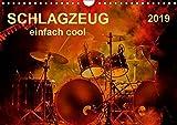Schlagzeug - einfach cool (Wandkalender 2019 DIN A4 quer): Schlagzeug, das Instrument, dass nicht nur den Musiker, sondern während eines Konzertes ... (Monatskalender, 14 Seiten ) (CALVENDO Kunst)