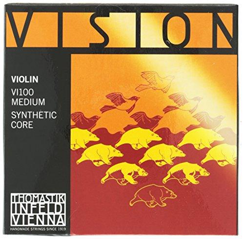 Thomastik 634125 Saiten für Violine Vision Synthetic Core, Satz 4/4 Mittel (Violine Vision Saiten Thomastik)