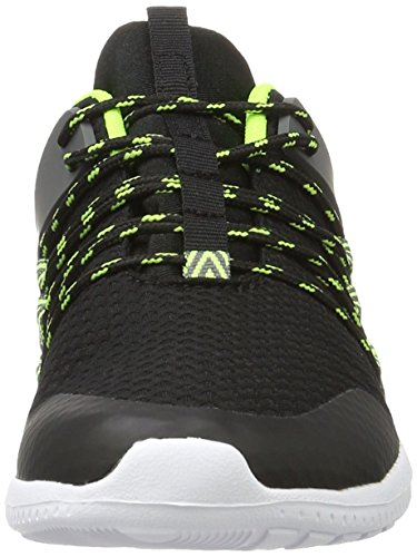 Kappa Stamina, Sneakers Basses Mixte Adulte Noir (Black/green)