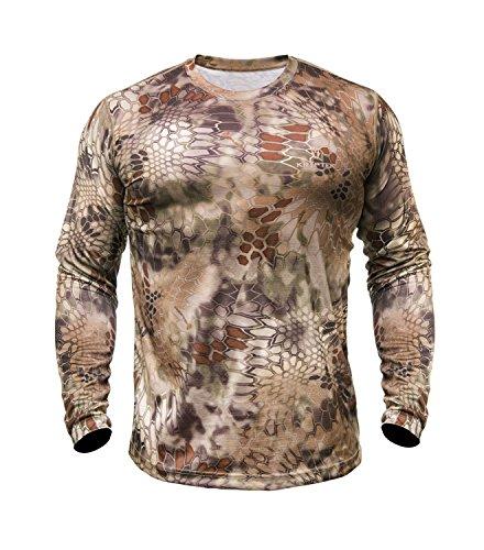 Kryptek Herren Hyperion T-Shirt Lange Ärmel Polyester, Herren, Highlander Camo -
