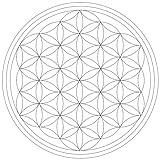 Lebensfreudeladen Mandala Leinwandmalvorlage Blume des Lebens 30 x 30 cm