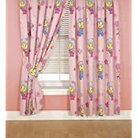 CharacterWorld Fifi Jump Curtains Including Tie Backs, 72 Inch