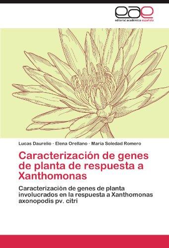 Caracterización de genes de planta de respuesta a Xanthomonas