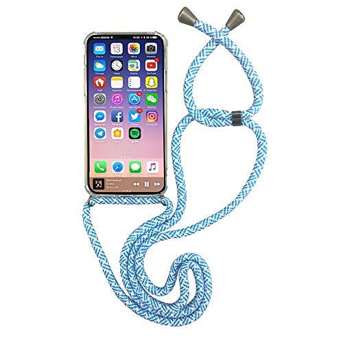 PettyPö Handy-Band mit Kolibri Muster, Handyhülle-Kordel, Handy-Kette aus robustem Material Smartphone-Kette-hülle als stylisches Accessoires passend für (Samsung Note 9, Blau Print)