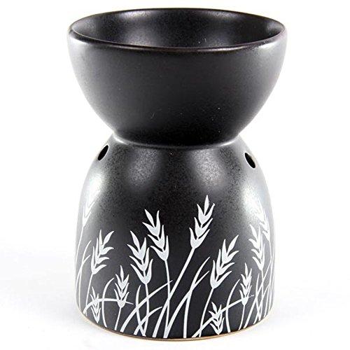 Ceramic Oil Burner Grass Black Design