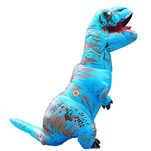 Halloween Kostüm T-REX Blow Up Cosplay Aufblasbarer Dinosaurier Blau (T-rex Kleinkind-halloween-kostüm)