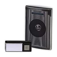 ToyPost Heidemann 70846-Carillon Doorbell Set Wireless Silver Black Charcoal