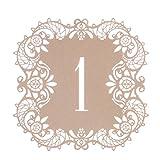 H & D Tischnummern 1-30 Hochzeit Tabelle Zahlen für Tischdekoration/Gedeckter Tisch/Tischordnung