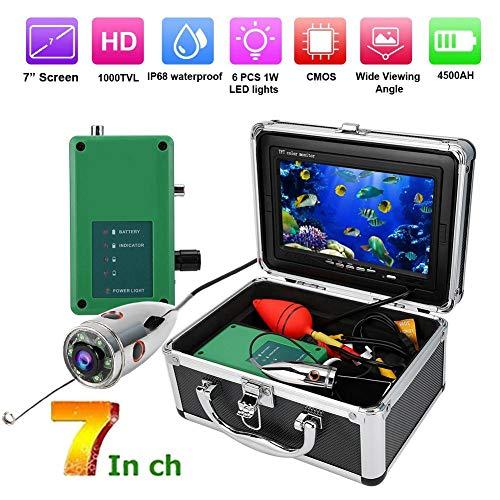 Tangxi Fischfinder, 7in TFT 1000TVL 164ft Unterwasservideokamera mit 50m Kabel IR Nachtsicht, IP68 wasserdichte Fischerkamera für EIS/Angeln/Tauchen(EU)