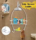 #8: TiedRibbons 2 Tier Hanging Hanging Bathroom Shower Caddy for Shampoo, Conditioner, Soap, Razors