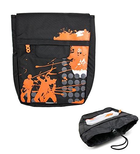 DURAGADGET Bolso para Excelvan BT-MT10   BT-1077 - Negro con Print En Color Naranja - Irá A La Última con Su Diseño Contemporáneo