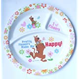 HMI Cartoon Character 3 Section Round Melamine Plate For Kids (Scooby Doo, 4 Ounce)