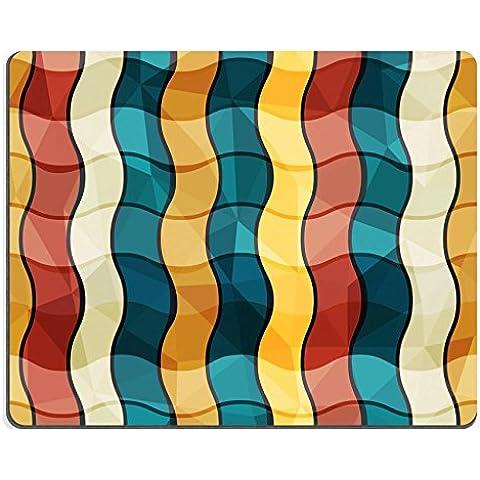 Liili Mouse Pad-Tappetino per Mouse in gomma naturale con immagine: 17621413 gomito ID, senza cuciture, colore: bianco