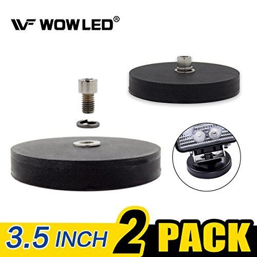 wowled 2 x imán Base Mount Soporte con almohadilla de goma para LED luz de trabajo LED Light Bar