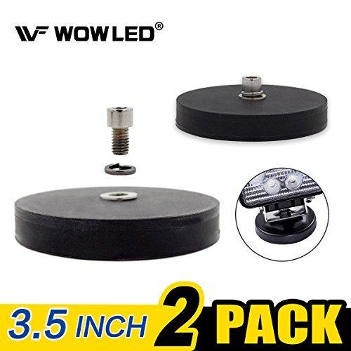 wowled 2x imán Base Mount Soporte con almohadilla de goma para LED luz de trabajo LED Light Bar