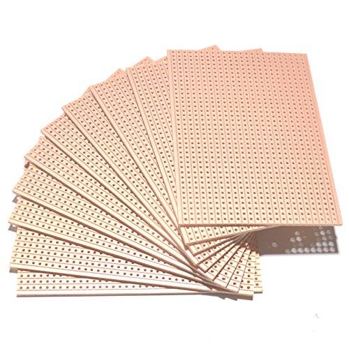 Vero-Platte für Prototypen mit Kupfer verkleidete Streifenplatte, 64x 95mm erhältlich in 1, 2, 3, 4, 5, 10, 25oder 50 Stück, 10