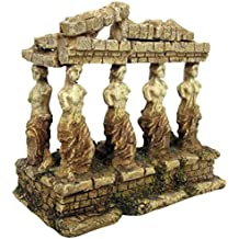 Croci A8011642 Figura Decorativa para Acuario, Diseño de Templo Griego con Diosas