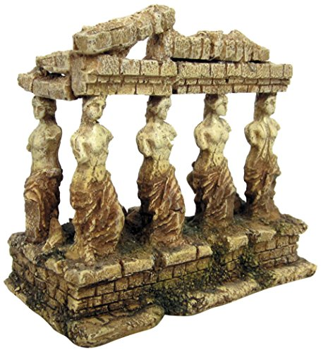 Croci A8011642 Decorative Figure for Aquarius, Design of Greek Temple with Goddesses