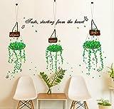 BB.er Canasta de pared fresco y elegante salón dormitorio impermeable extraíble pegatinas decorativas