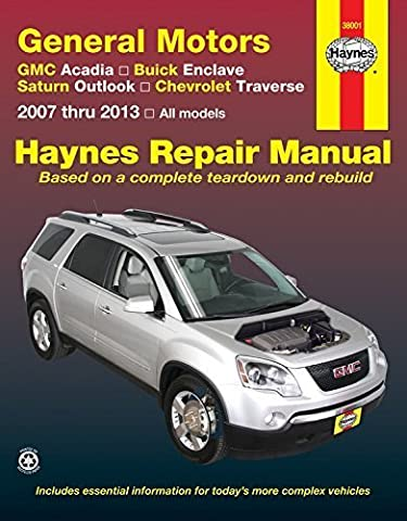 General Motors GMC Acadia, Buick Enclave, Saturn Outlook, Chevrolet Traverse: