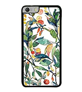 ifasho Designer Back Case Cover for Micromax Canvas Knight 2 E471 (Fruits And Leaves Drawings Nagoya Fruits Wine Fruits Up)